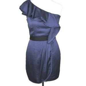 NEW BCBGeneration One Shoulder Cocktail Dress Blue